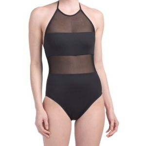 La Blanca Black Sheer One-Piece Swimsuit 12
